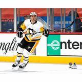 """Mark Jankowski Pittsburgh Penguins Unsigned White Jersey Skating vs. Philadelphia Flyers Photograph"""