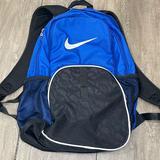Nike Bags | Nike Backpack Book Bag Shoulder Laptop Travel | Color: Black/Blue | Size: Os