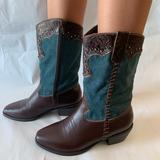 Michael Kors Shoes   Michael Kors Cowboy Boots   Color: Blue/Brown   Size: 6