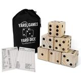 Yard Games Wooden 6 Piece Giant Dice Set Wooden in Brown, Size 3.8 H x 7.2 W x 10.4 D in | Wayfair DICE-001
