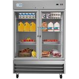 "KoolMore 54"" Glass Side by Side Refrigerator 47 cu. ft. in Gray/White, Size 82.5 H x 54.0 W x 32.3 D in   Wayfair RIR-2D-GD"
