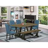 East West Furniture V676EL121-6 Dining Table Set, 60 x 36