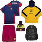 Icon Sports World Soccer Ultimate Fan Pack (Youth Medium, FC Barcelona Youth Red)