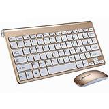 TYESHA Mini Wireless Keyboard and Mouse Set is Waterproof, 2.4GhzWireless Transmission Technology Suitable for PC, Laptop and Notebook Computer