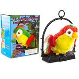 Moggem Talking Parrot Plush Toy, Repeats What You Say Plush Animal Toy Electronic Parrot Plush Animal Toy Cute Interesting Bird Dolls Kids Baby Play Toy Gift for Children