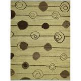 Corrigan Studio® Penobscot Hand-Knotted Wool Lime Area Rug Wool in Brown/Green, Size 96.0 H x 66.0 W x 0.5 D in   Wayfair