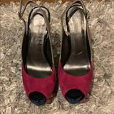 Jessica Simpson Shoes | Jessica Simpson Peep Toe Heel | Color: Blue/Gray | Size: 7.5