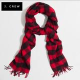 J. Crew Accessories | J. Crew Buffalo Plaid Scarf Black And Red Euc | Color: Black/Red | Size: Os