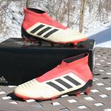 Adidas Shoes   Adidas Predator 18+ Fg Youth Boy 6 Soccer Cleats   Color: Red/White   Size: 6bb
