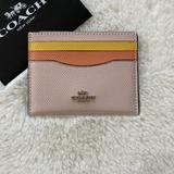 Coach Accessories | Coach Card Case Colorblock Id Wallet | Color: Cream/Yellow | Size: Os
