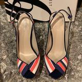 Nine West Shoes   Nine West Sling Back Peep Toe Heel   Color: Blue/Green   Size: 7