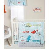Trend Lab Crib Sheets Multi - Dr. Seuss One Fish Two Fish Four-Piece Crib Bedding Set