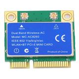 MC8260 2‑in‑1 Dual Band 2.4GHz/5GHz Wireless Network Card,Mini PCI‑E Card 1200M Wireless Network Card 8260 WLAN+BT