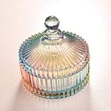 hjn Crystal Candy Jar with Lid Tent Shaped food Jar Wedding Candy Buffet Jar Food Jar (A Candy) ÿ