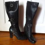 Nine West Shoes | Knee High Black Leather Boots | Color: Black | Size: 7.5