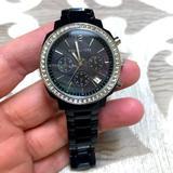 Michael Kors Accessories | Michael Kors Acrylic Watch | Color: Black/Silver | Size: Os