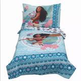 Disney Bedding | Moana Aqua Toddler Bedding Set (4pc) New | Color: Blue/Pink | Size: Os