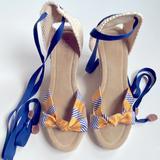 J. Crew Shoes   J.Crew Espadrille Sandals   Color: Blue/Yellow   Size: 7