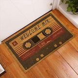 Welcome Mixtape Music Vintage Indoor and Outdoor Doormat Warm House Gift Welcome Mat Gift for Mixtape Lovers Gift for Music Lovers (Indoor & Outdoor Doormat 24x16)