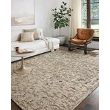 Charlton Home® Enar Floral Hand Hooked Wool Cream/Brown/Green Area RugWool in Brown/Green/White, Size 18.0 H x 18.0 W x 0.5 D in   Wayfair