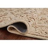 Charlton Home® Enevold Floral Hand Hooked Wool Cream/Area RugWool in Brown, Size 60.0 H x 60.0 W x 0.5 D in   Wayfair