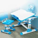 Zoomie Kids Lynnwood Kids 2 Piece Play Table & Chair Set Wood/Metal in Blue, Size 22.44 H x 27.6 W x 13.8 D in | Wayfair