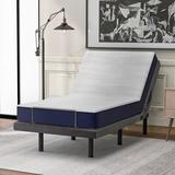 Alwyn Home Mikhail Extra-long Twin Platform Bed Upholstered in Gray/Green, Size 37.0 W x 80.0 D in   Wayfair 0FD449F4860B4ECD963535C8299DFEEB
