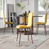 Wade Logan® Wareham Upholstered Side Chair Dining Chair Polyester/Polyester blend/Upholstered in Yellow/Brown, Size 34.25 H x 17.3 W x 21.26 D in