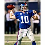 Eli Manning New York Giants Fanatics Authentic Unsigned Blue Jersey Vertical Passing Photograph