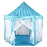 """Hamiltion 4'7"""" x 4'7"""" Outdoor Play Tent Polyester/Mesh in Blue, Size 55.0 H x 55.0 W x 55.0 D in 