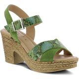 Luzbel Platform Sandal - Green - Spring Step Heels