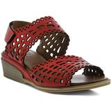 Petra Wedge Sandal - Red - Spring Step Heels