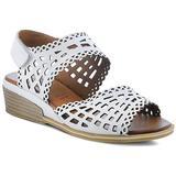 Petra Wedge Sandal - White - Spring Step Heels