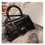 Female Bag, Crocodile Pattern, Handbag, Leather Shoulder Handbag, Small Ck Handbag, Bshaped Buckle Handbag
