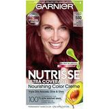Garnier Hair Color Nutrisse Ultra Coverage Nourishing Hair Color Creme, Cinnamon Whiskey 550,1 Count, Pack of 1
