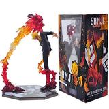 Puppet Model 17Cm One Piece Sanji Diable Jambe Black Coat Battle Ver. PVC Action Figure Luffy Crew Sanji Fire Battle Model Figure Statue Anime Collection Figurine Gifts for Anime Fans I
