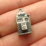 Charm Pendant Supply - Jewelry Making DIY 925 Sterling Silver Vintage Slot Machine for Good Luck Charm Pendant