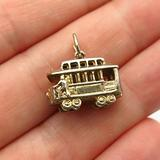 Charm Pendant Supply - Jewelry Making DIY 925 Sterling Silver Vintage Crea San Francisco Cable Car Charm Pendant
