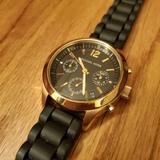 Michael Kors Accessories | Michael Kors | Jet Set Black Chronograph Watch | Color: Black/Gold | Size: Os