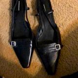 Burberry Shoes   Burberry Kitten Heel Black Sling-Back Shoes 38.5   Color: Black   Size: 8