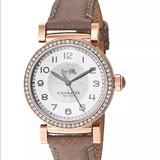 Coach Accessories | Coach Women'S Madison 14503394 Beige Leather Watch | Color: Tan | Size: Os