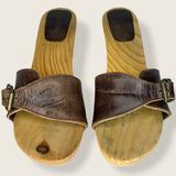 J. Crew Shoes   J. Crew Wood And Leather Clogs   Color: Brown   Size: 8