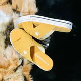 Converse Shoes | Converse One Star Sandals Slip-On Size 8 | Color: Black/Tan/White | Size: 8