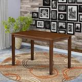 """East West Furniture Yarmouth 30"""" Dining Table Wood in Brown, Size 30.0 H x 48.0 W x 30.0 D in   Wayfair YAT-AWA-T"""