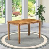 """East West Furniture Yarmouth 30"""" Dining Table Wood in Brown, Size 30.0 H x 48.0 W x 30.0 D in 