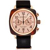 Clubmaster Chronograph Quartz Rose Gold Dial Watch - Metallic - Briston Watches