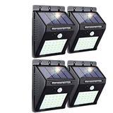 Solar Lights Outdoor - Solar Motion Sensor LED Solar Security Lights Outdoor Solar Wireless Flood Lights IP 65 Waterproof for Garden Fence Patio Garage Outdoor Garden, Patio, Garage