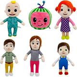 Desire Sky 6pcs/set Among Us Cocomelon Plush Toy for toddlers Baby Doll Melon Plush Stuffed Role-Playing Cocomelon JJ Family Stuffed Dolls 20cm/33cm For Kids Christmas Gift JJ Cocomelon Toys