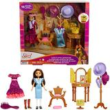 Mattel Spirit Untamed Lucky's Attic Adventure Playset, Lucky Doll (7-in) with Vanity, Chair, Hat Rack, Zoetrope, Extra Outfit, Boots & Accessories, Great Gift for Ages 3 Years Old & Up