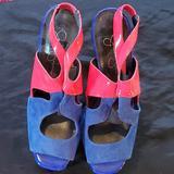 Jessica Simpson Shoes   Jessica Simpson Comfy & Cute Suede & Patent Shoe   Color: Blue/Pink   Size: 8.5
